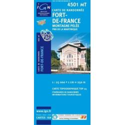 Achat Carte randonnées IGN - 4501 MT - Fort De France - Montagne Pelée